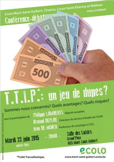 Conférence – Débat : «TTIP : un jeu de dupes ?»